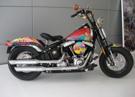 Damien Hirst x Harley Davidson motorcycle