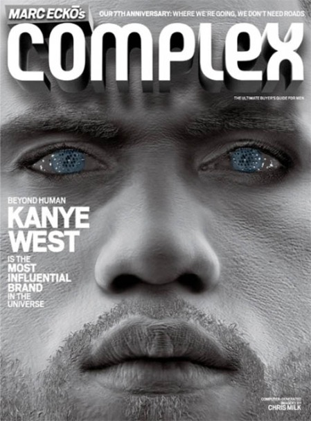 Kanye West on Complex cover