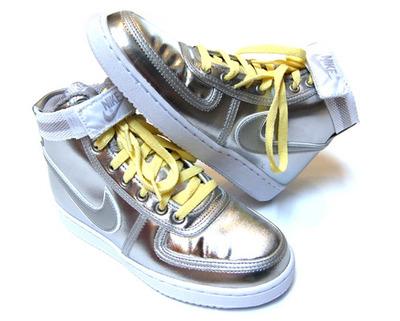 Nike Womens Vandal High Metallic Silver