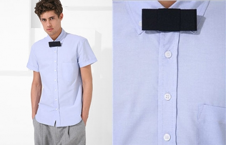 Mjolk Short Sleeved Dress Shirt and Bow Tie