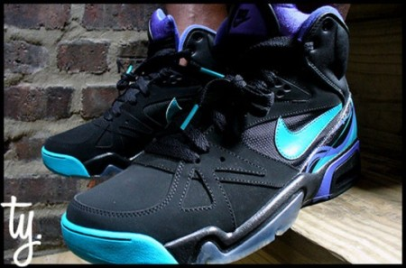 Nike Air Hoop Structure Black/Aqua