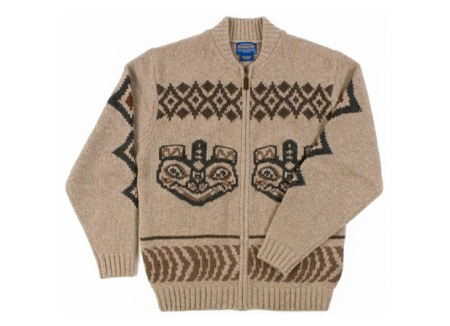 Pendleton Totem Bear Zip Cardigan